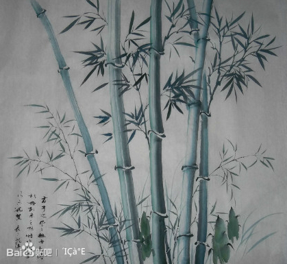 竹林纹身水墨画图片展示图片