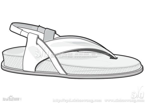 夏季男鞋凉鞋设计手稿图片