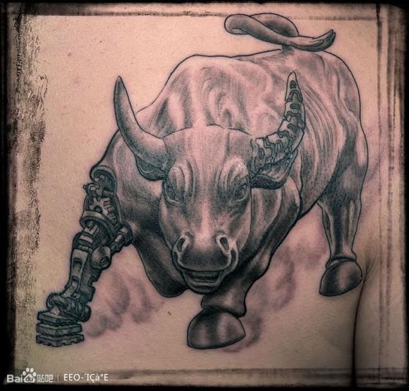 牛纹身图案_松原刺青吧 (580x555)图片