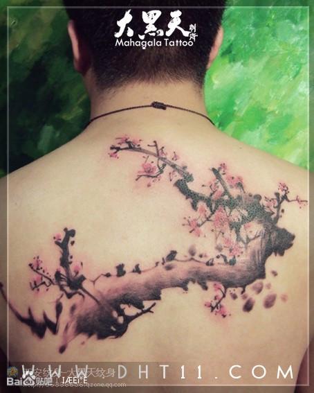 中国风水墨画纹身图片展示图片