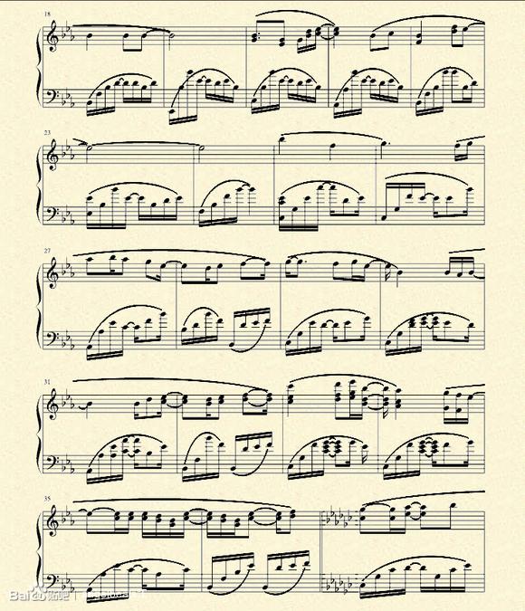 new soul钢琴简谱图片