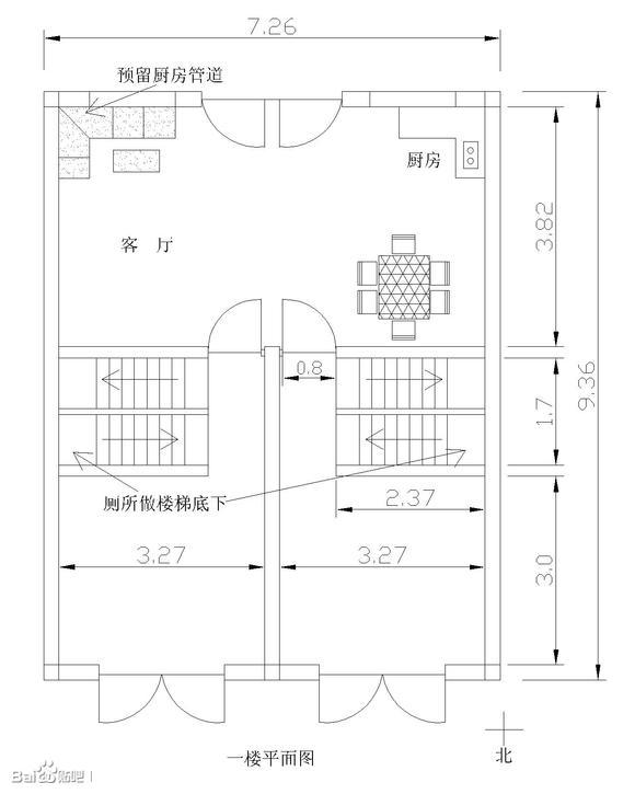 自建房平面图,给点意见吧,谢谢啦_建筑设计吧_百度贴吧图片