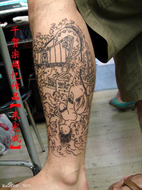 纹身图案腿图片