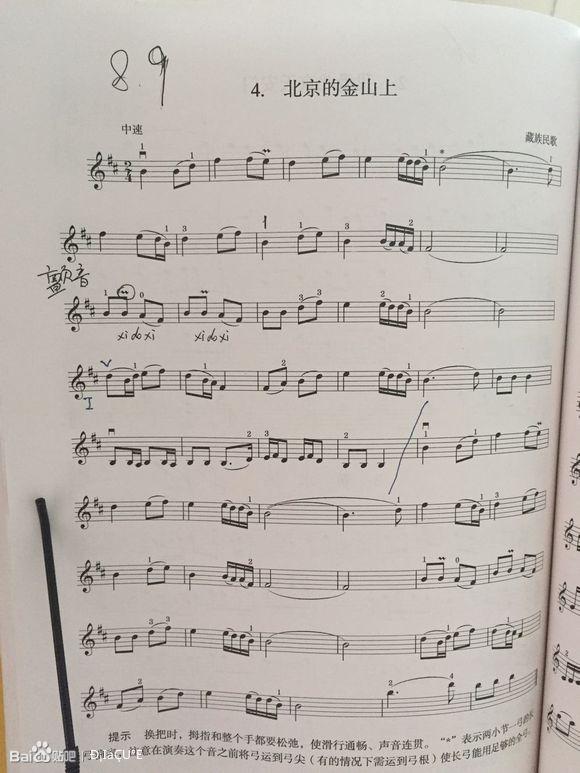 【图片】开始练习三把位及换把【小提琴吧】_百度贴吧图片