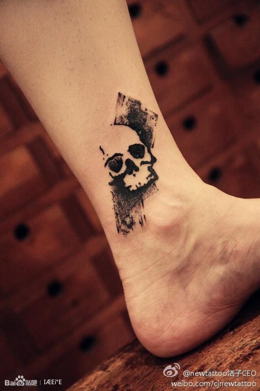 水墨山水纹身_纹身图案图片