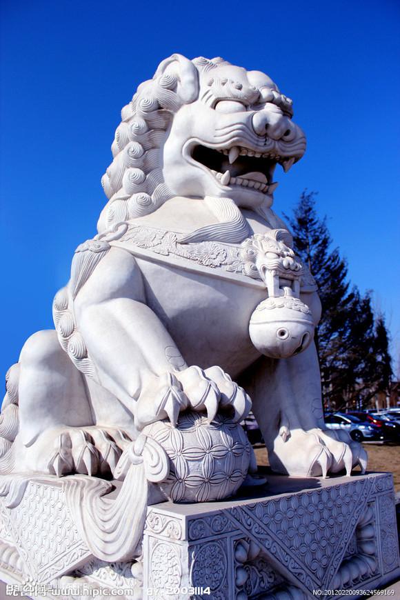 手臂中国石狮子纹身图片图片