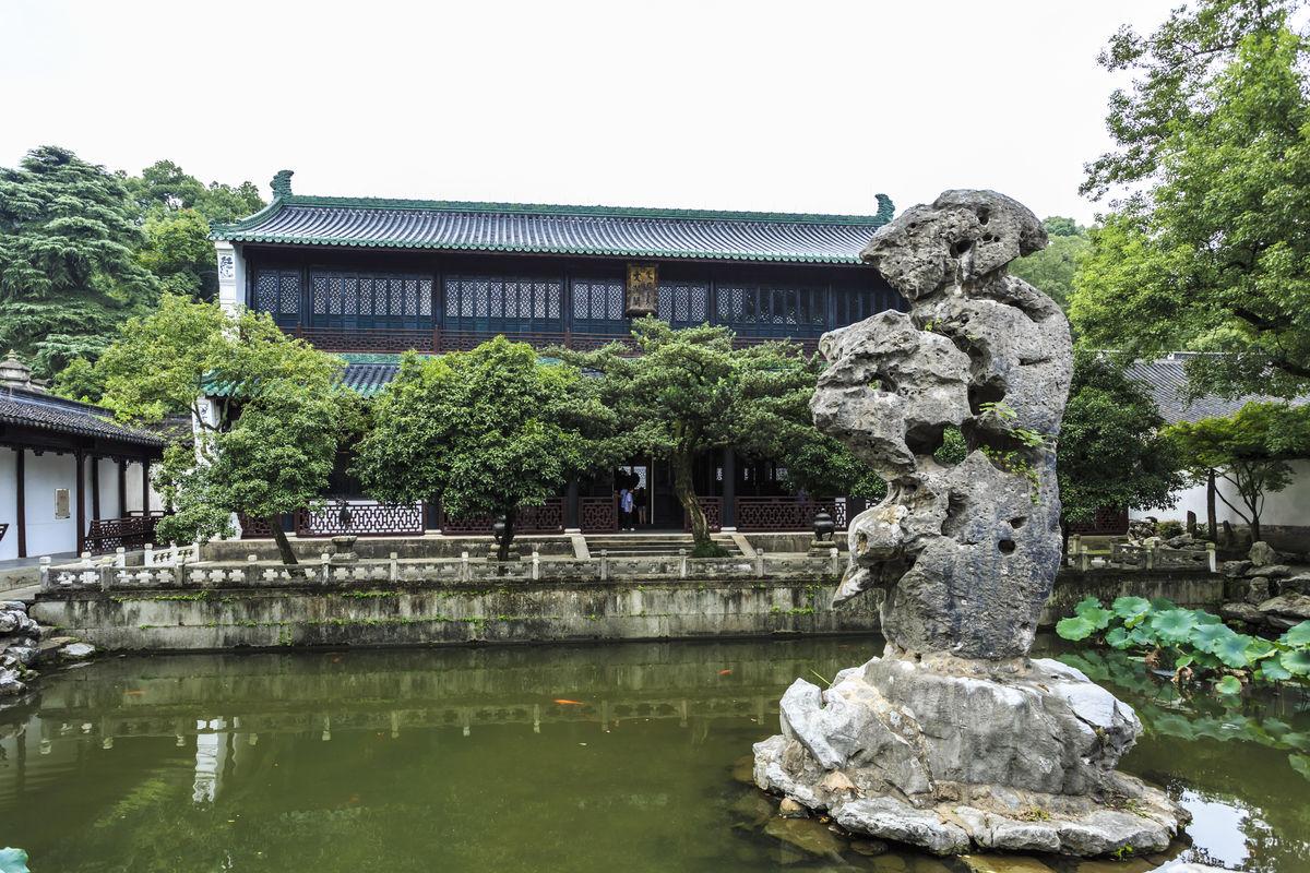 中式建筑,园林建筑,古民居,长廊,杭州风光,江南园林,园林,景观,水景图片