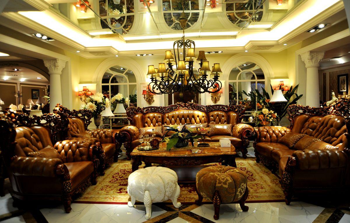 客厅,沙发,灯,皮革,茶几,软包,皮沙发,背景墙,时尚客厅,客厅沙发图片