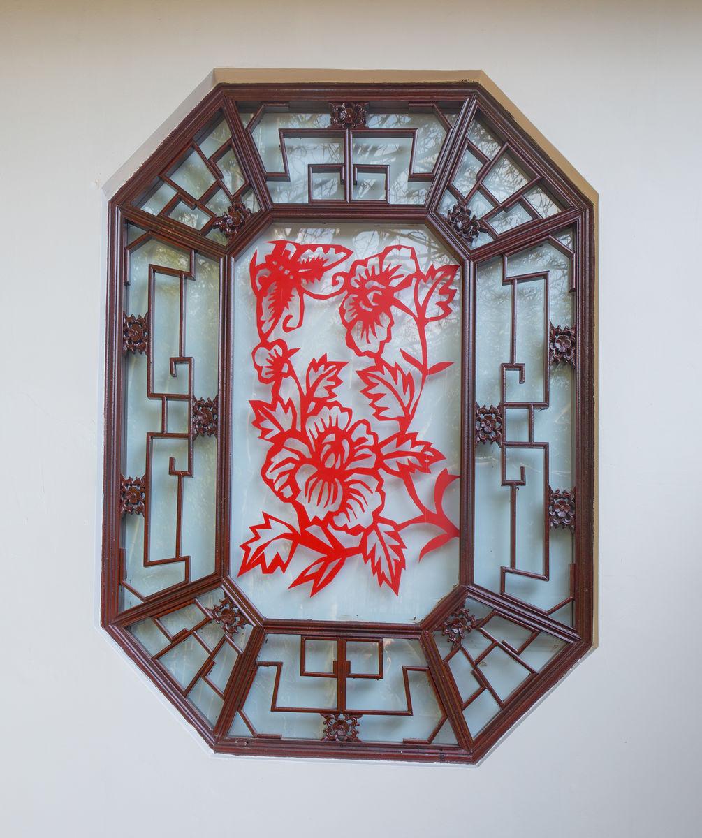 中式窗图片