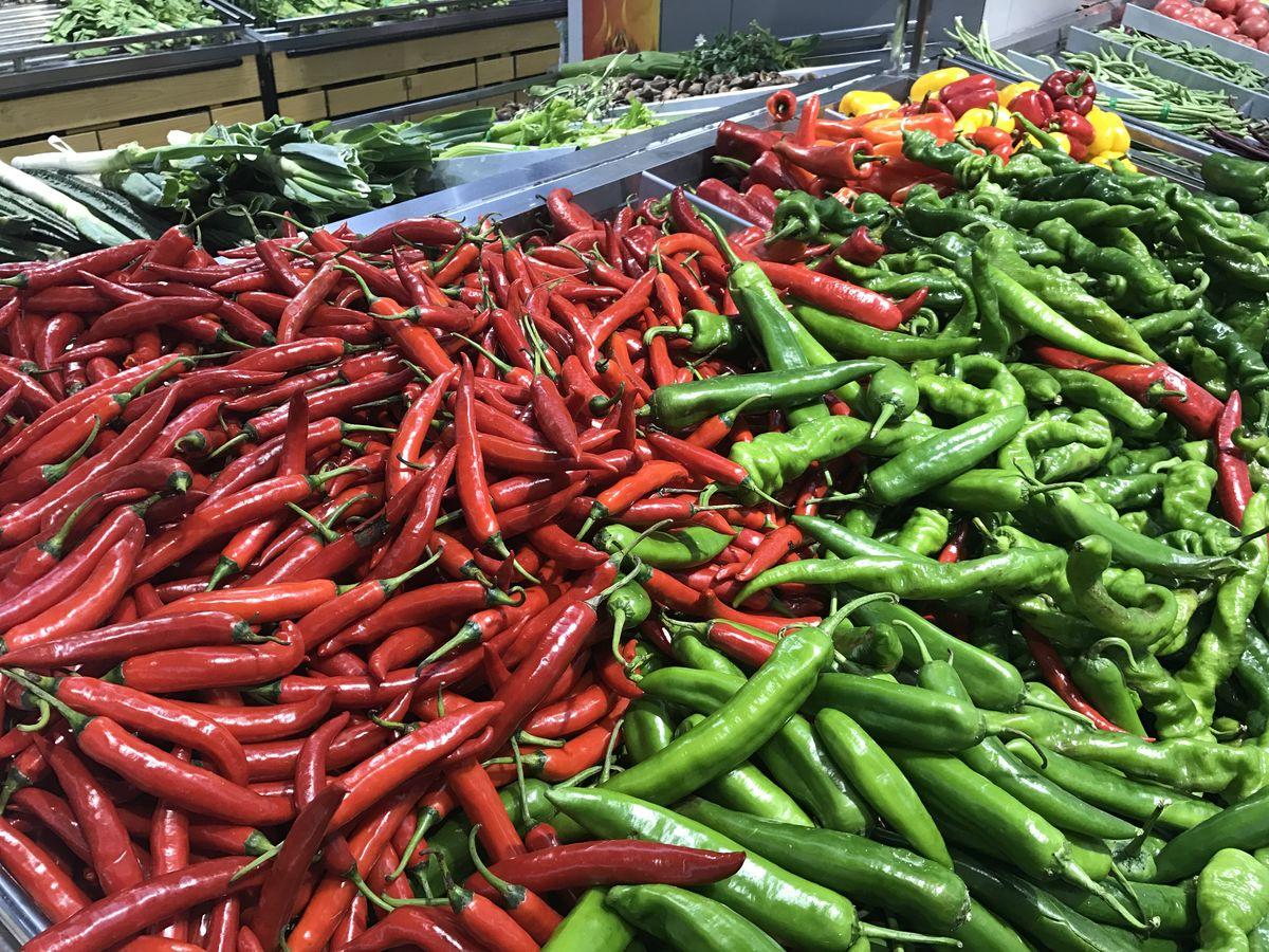 蔬菜陈列 超市内景图片