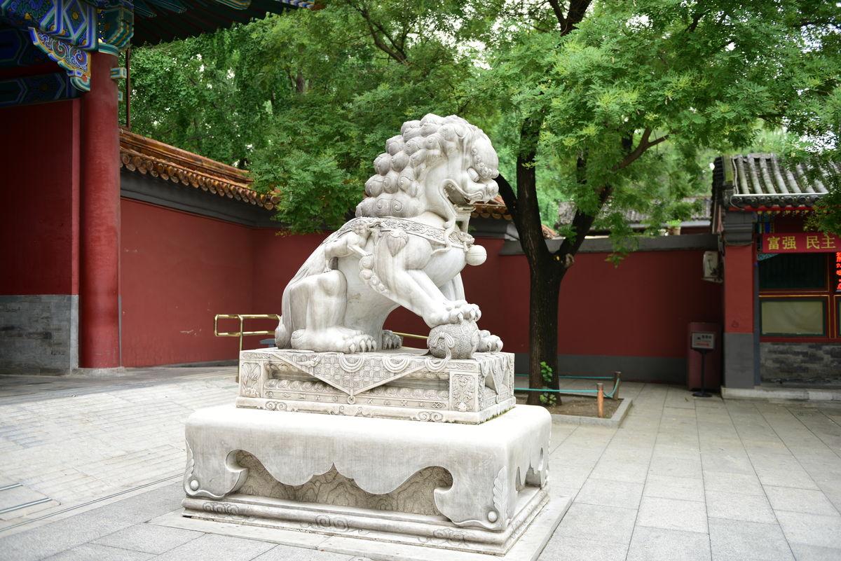 景山公园东门,门楼,石狮子,公园大门,古代建筑,北京景山公园图片