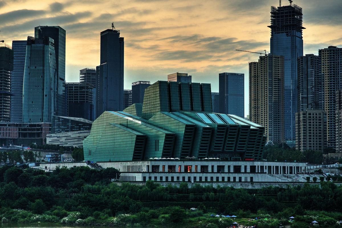 现代建筑,哈迪特,城市风光,城市,朝天门,大剧院,重庆风光,建筑设计图片