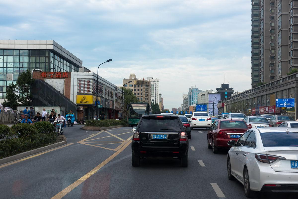 路_文二路 文二西路 马路 绿化