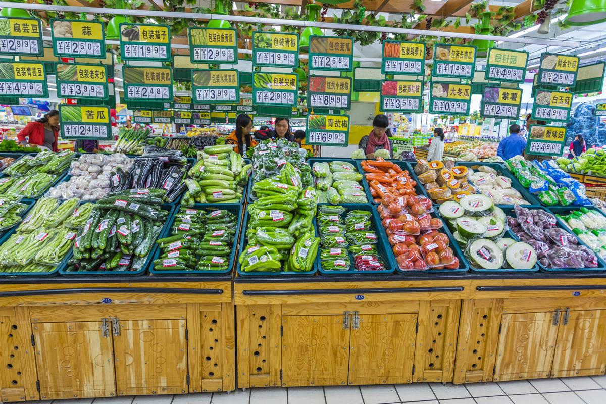 超市商品,商品陈列,超市内景,商业场所,卖场超市,食物,蔬果保鲜,蔬菜图片