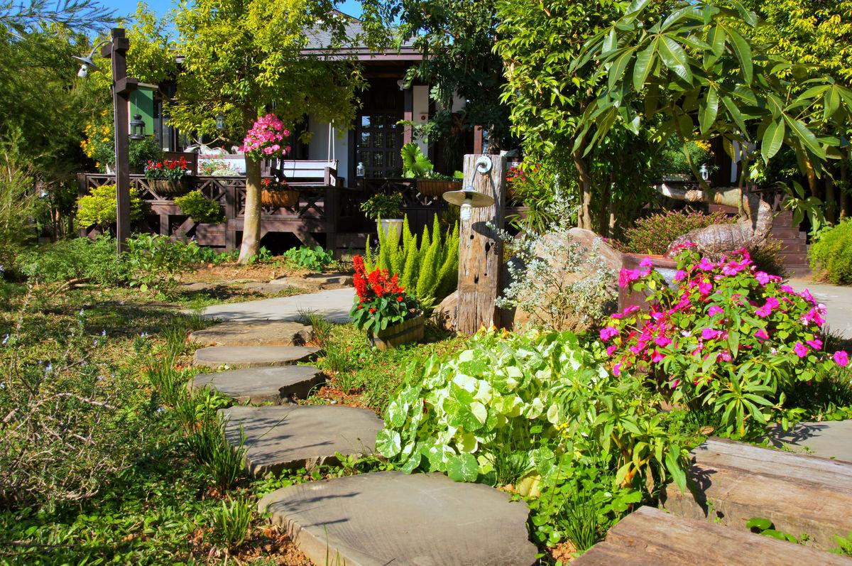 苗栗县,卓兰,坜西坪,花自在食宿馆,庭园设计,花艺,庭园,庭院,花园图片