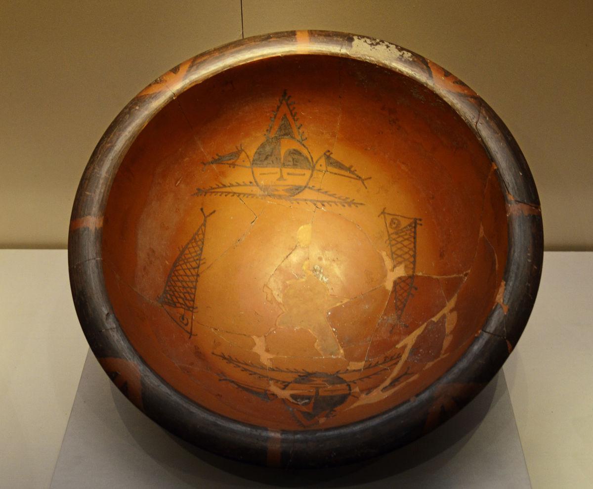 人面鱼纹盆的含义_人面鱼纹盆的历史信息_人面鱼纹彩陶盆价格