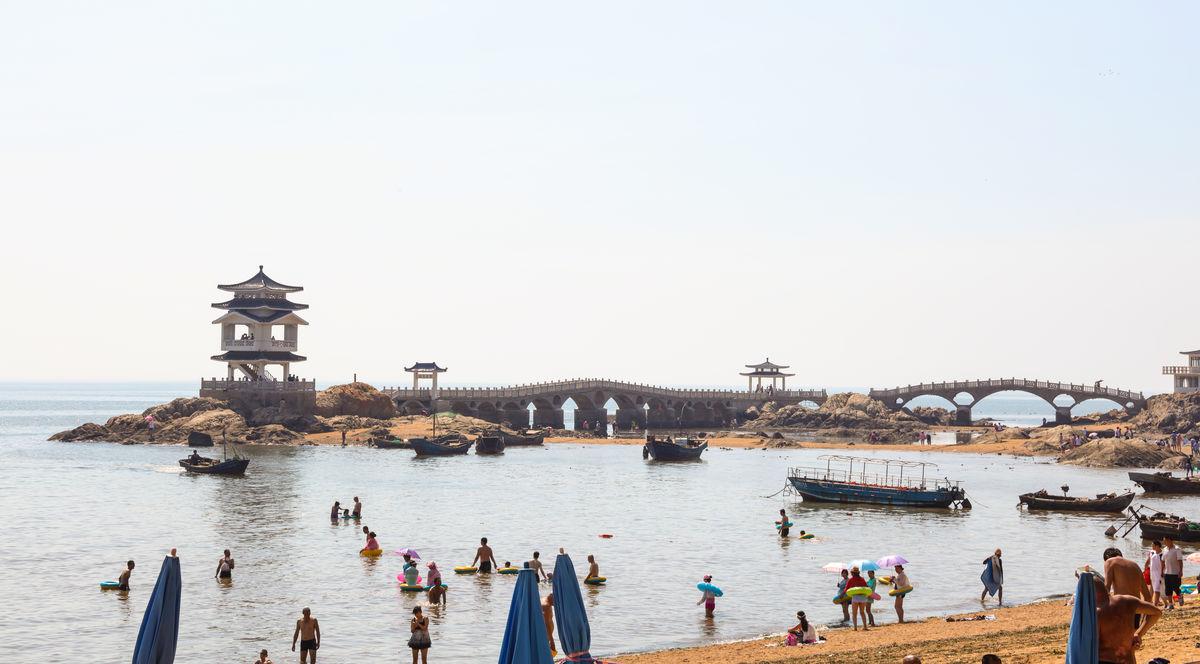 兴城海滨望海楼葫芦岛海滨