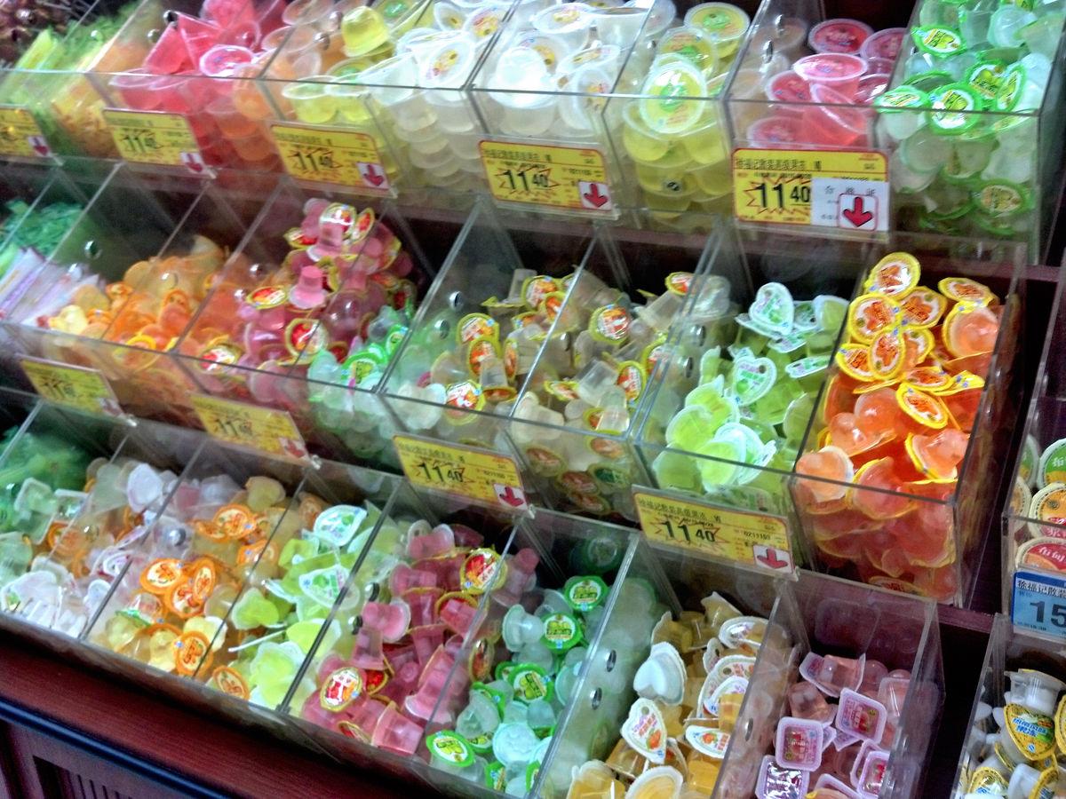 商场购物,卖场场景,超市场景,柜台,商品,食品,商品陈列,商品摆放,果冻图片
