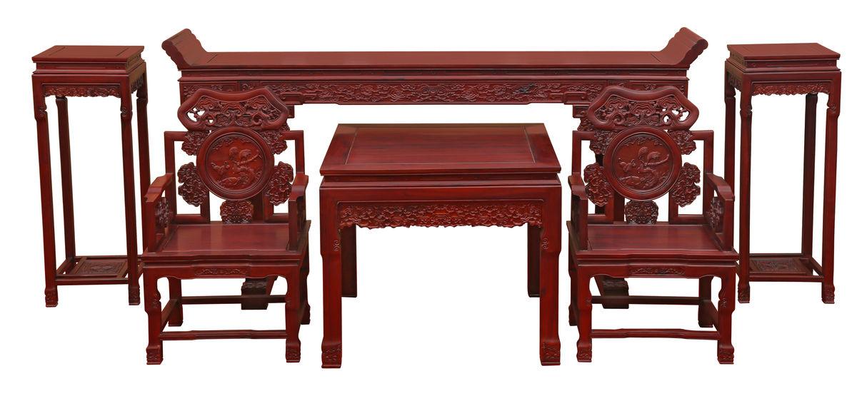 中堂,红木中堂,灵芝中堂,红木,红木家具,中式家具,实木家具,中式红木图片