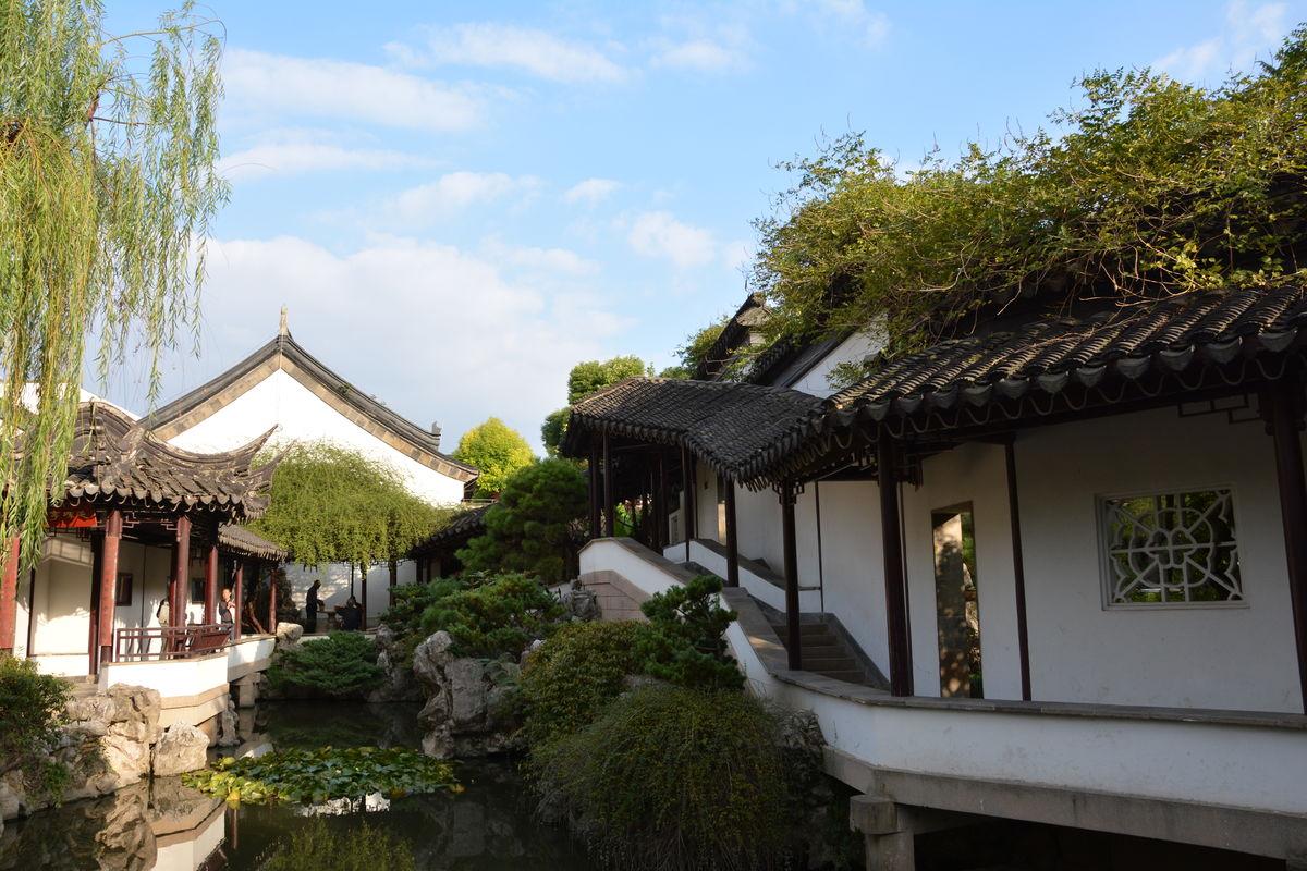 徽式建筑,古建筑,园林景观,江南园林景观,亭台楼阁,南京瞻园,园林图片