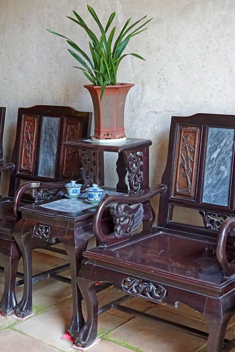 堂屋 中式客厅几坐特写图片