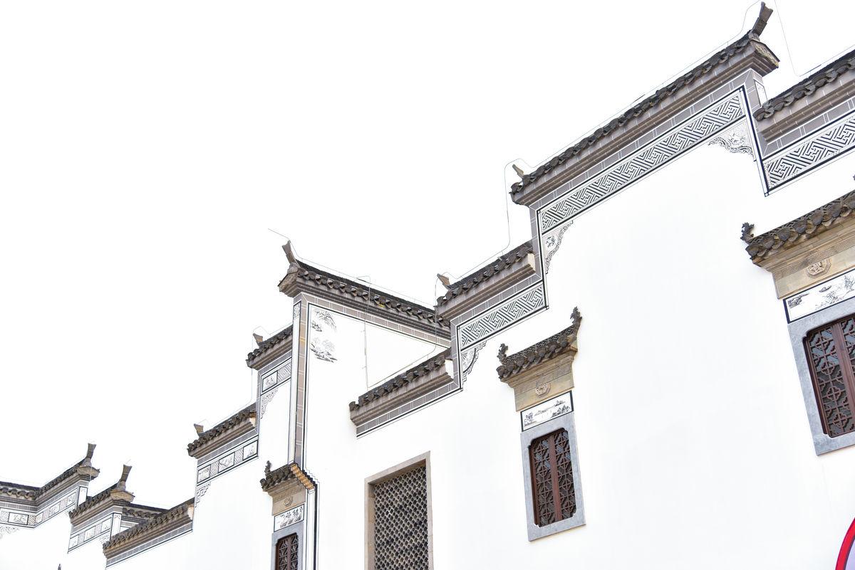 鸠兹古镇,芜湖旅游,徽式建筑,马头墙,古典建筑,安徽芜湖,街景,雕梁图片