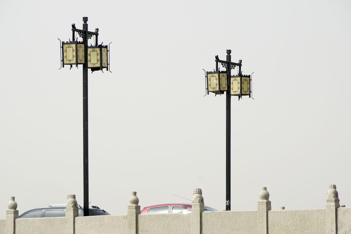 灯,路灯,中式路灯,仿古灯,景观灯,照明灯,中国元素,园林路灯,桥上图片
