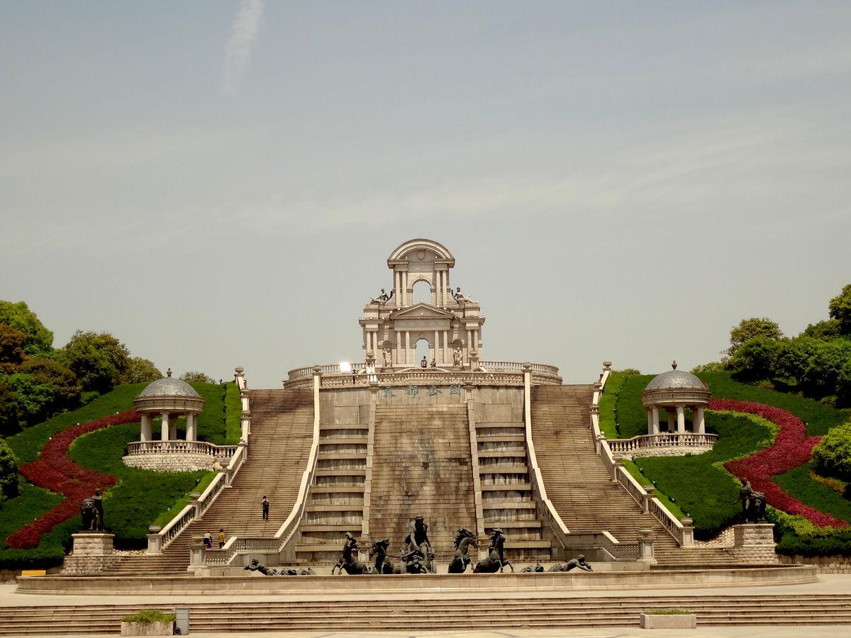 欧式喷泉广场图片