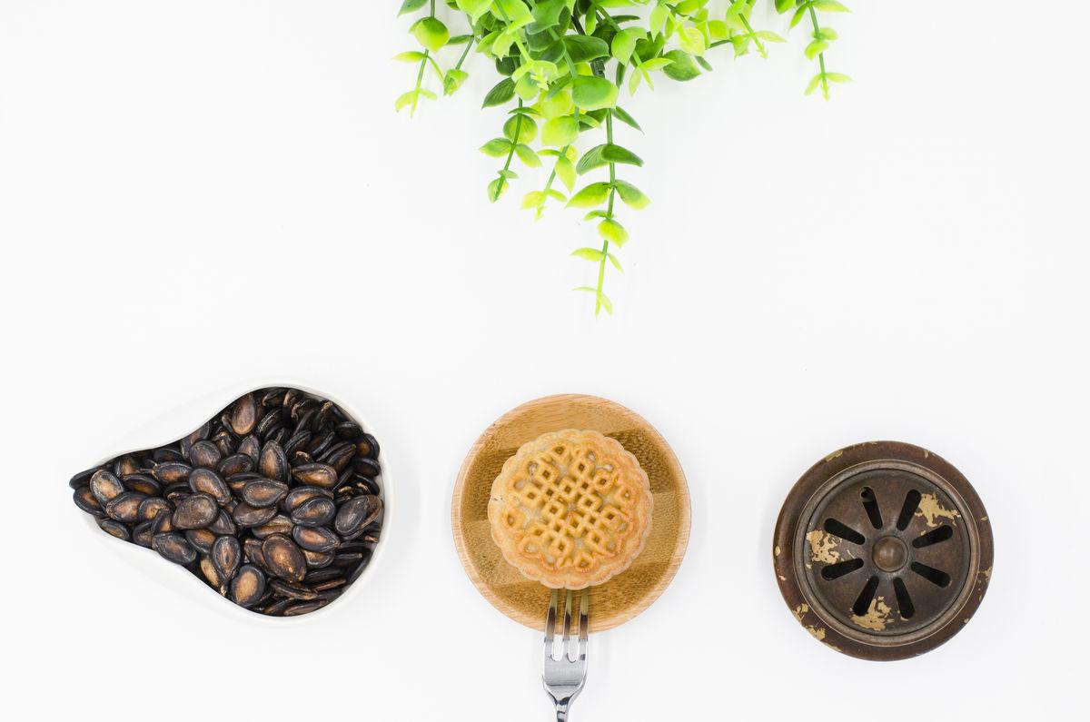 月饼 茶食 中秋传统食品图片