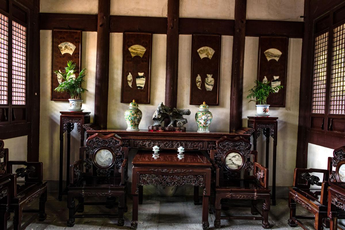 衙门公堂,县衙门,县丞住宅,老房子,中式家具,清代民居堂屋,中式客厅图片