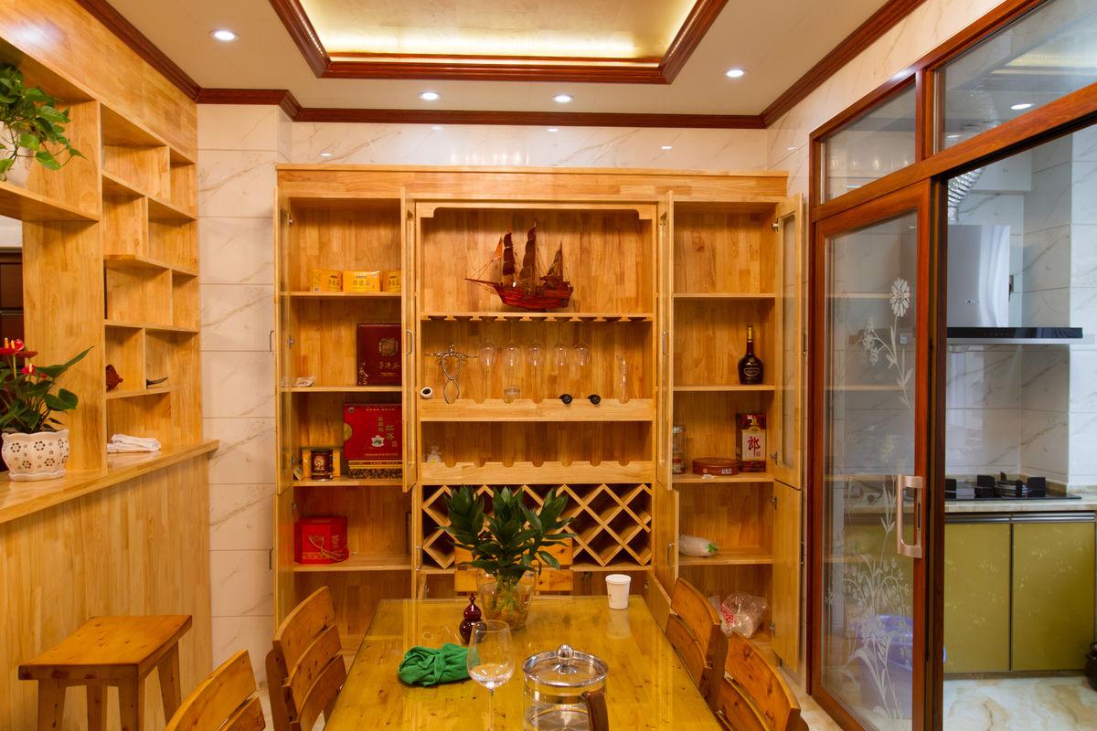 现代家居 餐厅 餐桌酒柜图片