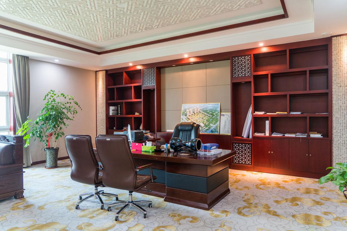 办公桌,经理室,写字楼,总经理室,办公家具,室内装饰,办公空间,中式图片