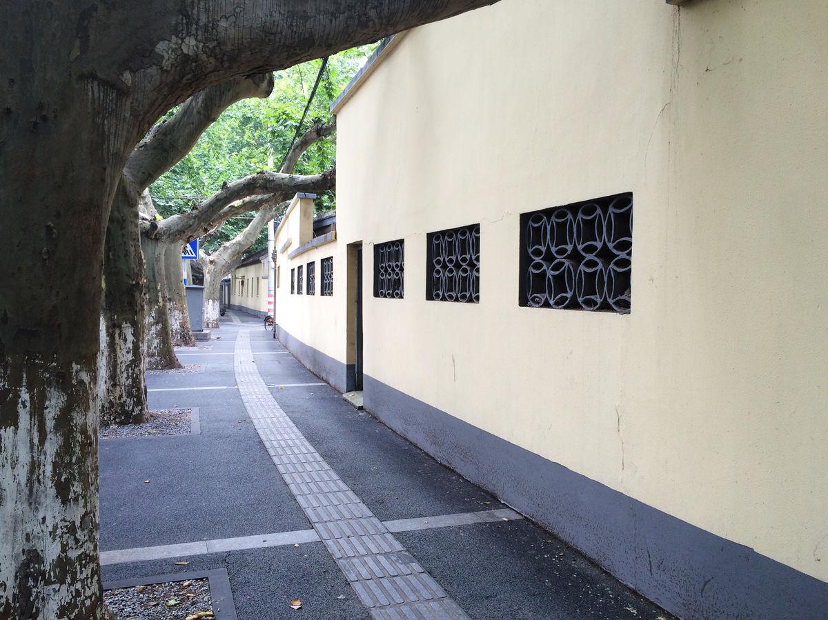 复古,砖墙,墙面,民国建筑,中式窗户,复古墙面,法桐树,南京颐和路图片