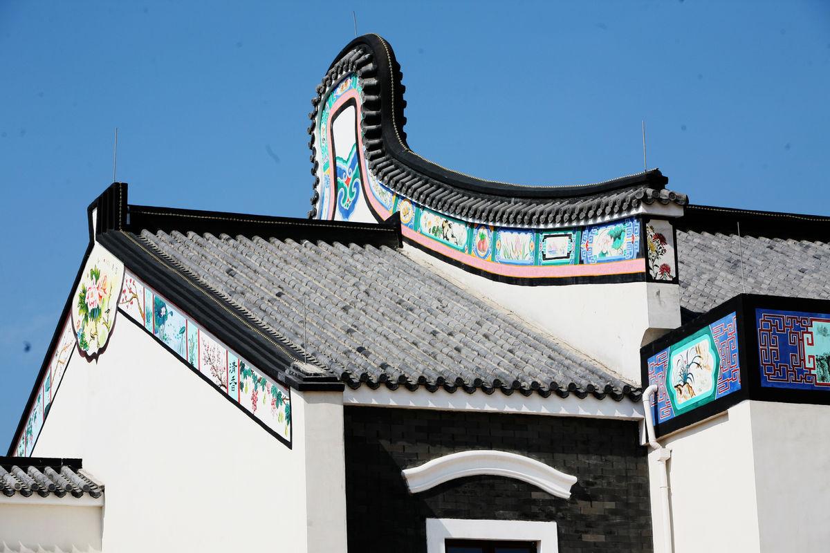 徽式建筑 中国元素 屋檐图片