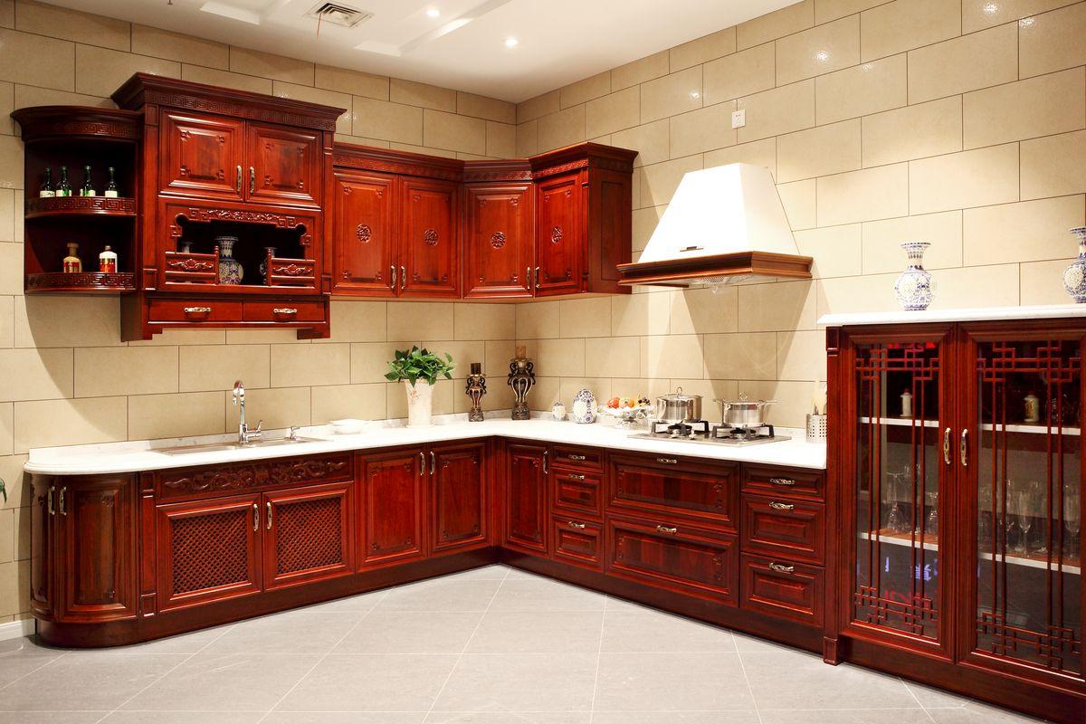 中式橱柜,实木橱柜,橱柜,橱柜设计,雕花橱柜,组合橱柜,定制橱柜,整体图片