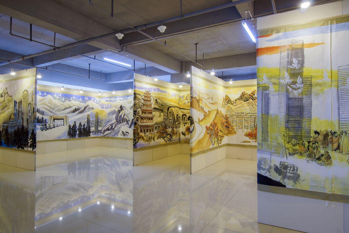 书画展厅 室内空间图片