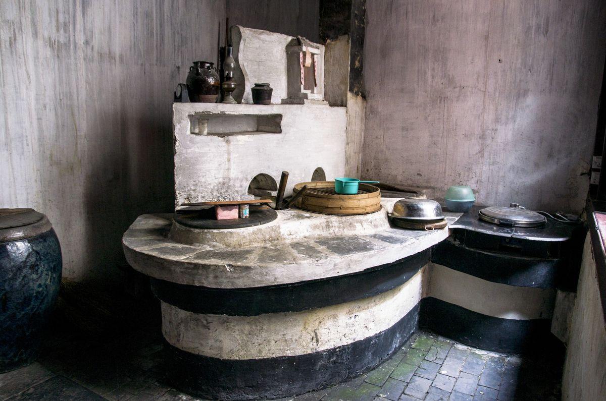 老灶台,厨房,土灶,灶头,灶房,农家老灶,老厨房,老锅台,农家灶台,柴火图片