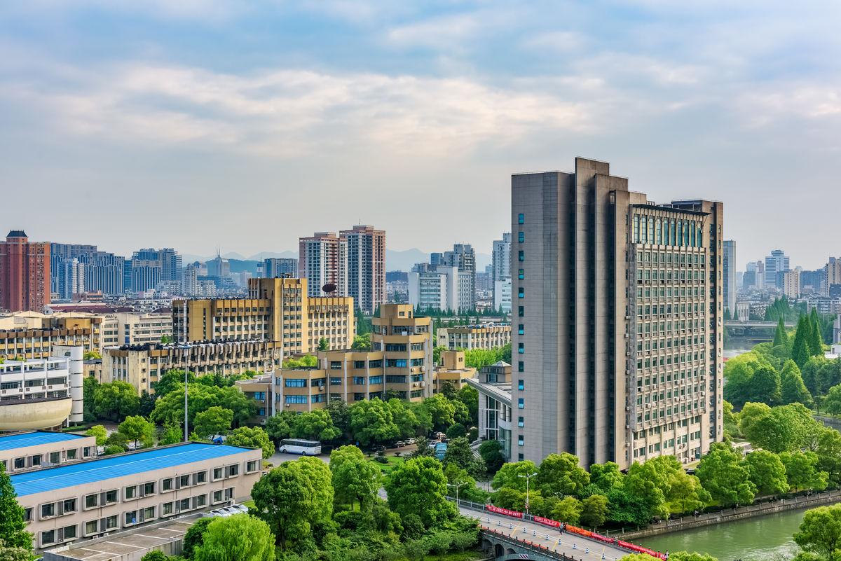 大学生宿舍,浙江工业大学鸟瞰,杭州风光,上塘河,桥梁,协同创新大楼图片
