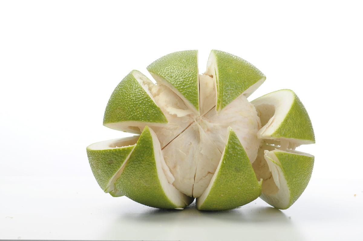 柚子 柚子果 剥开柚子 水果图片
