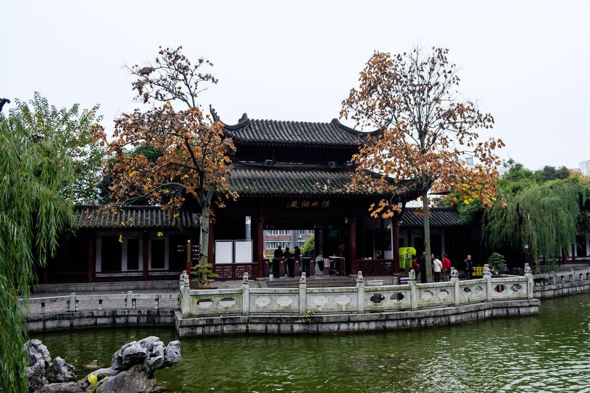 江苏,苏州,园林,拙政园,中式建筑,中式园林,世界遗产,黄鹤楼大门,水景图片