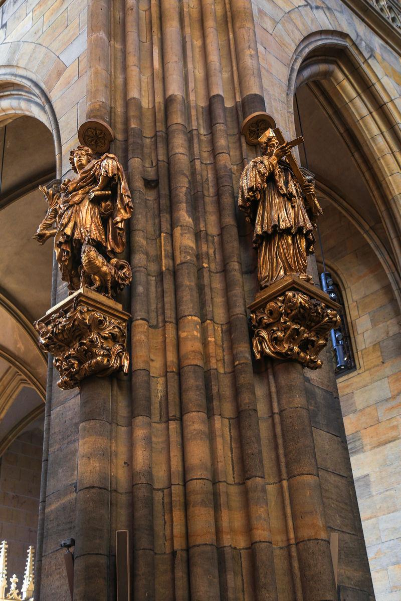 欧洲捷克布拉格圣维特大教堂图片