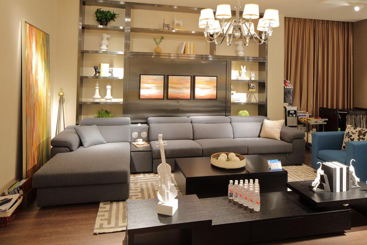 家居,家私,实木雕花,中式家具,中式风格,现代风格家具,软包沙发,客厅图片