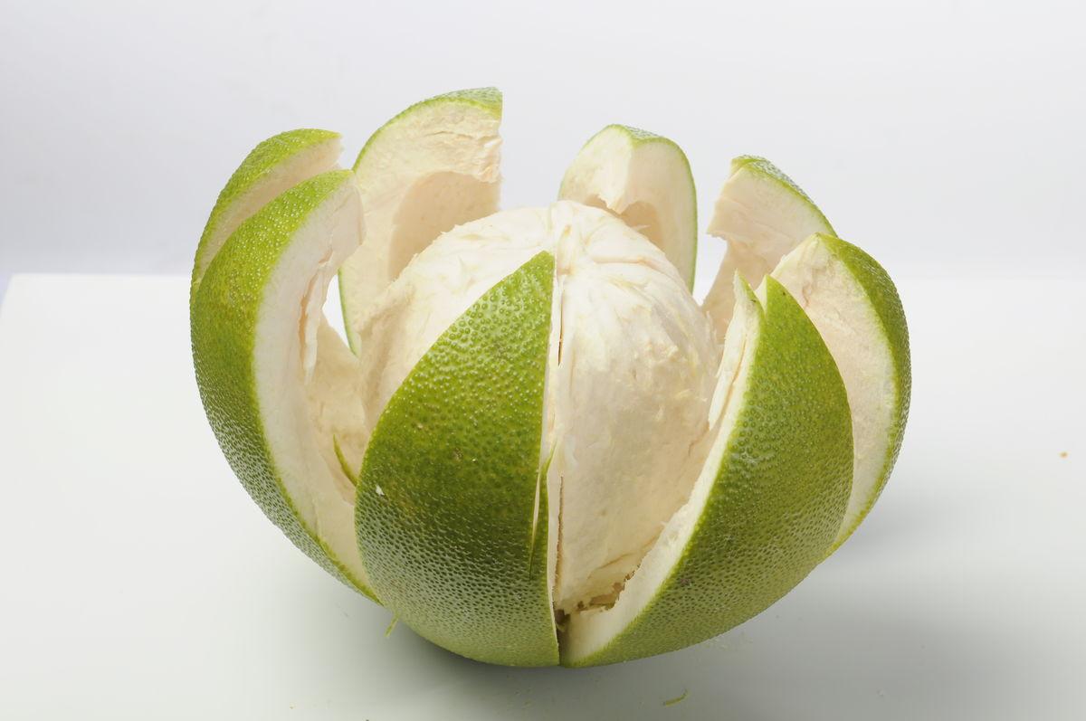 柚子 剥开柚子 绿色柚子 水果图片