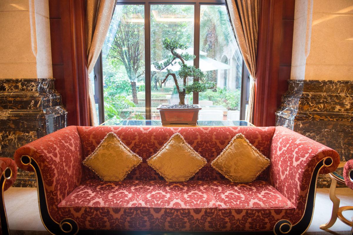 沙发,大厅,客厅,大堂,沙发背景图,盆景,落地窗,酒店大堂,别墅大厅图片