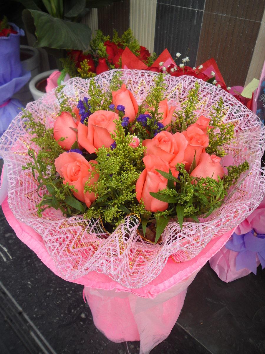 徘徊花,粉玫瑰,玫瑰,花束,花草,花朵,鲜花,植物,花卉,七夕节,7夕图片
