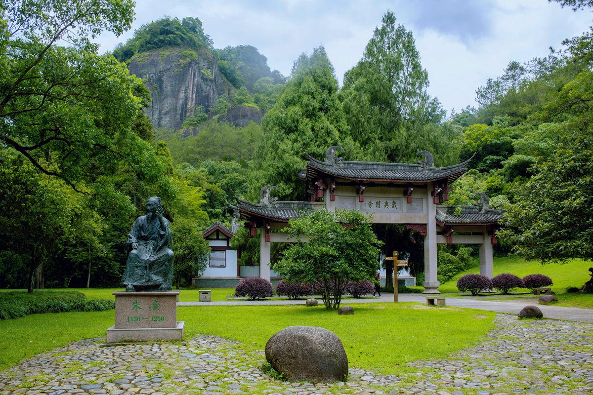 福建,朱熹,雕像,武夷山,紫阳书院,旅游景点,武夷精舍,世界自然遗产图片
