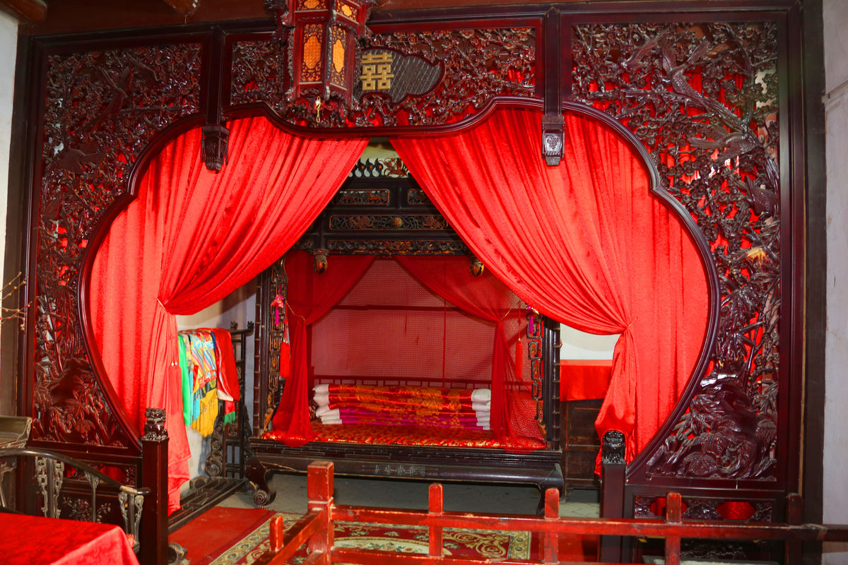 婚房,新娘,民俗,婚庆,喜庆,新房,场景,文物,中国元素,洞房布置,古代图片