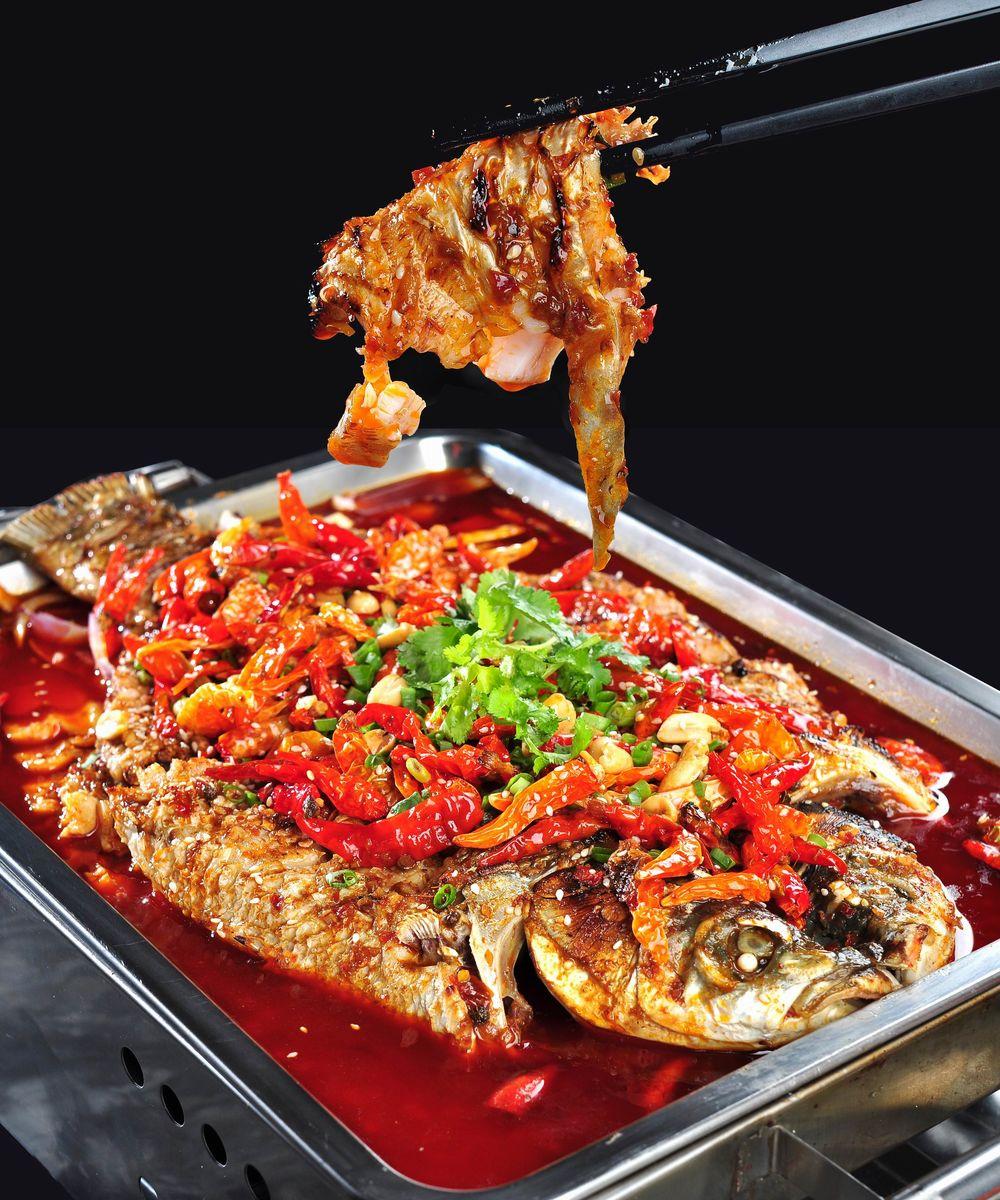 斗味冬阴功,农夫烤鱼,烤鱼,铁锅烤鱼,明炉烤鱼,烤草鱼,烤鲫鱼,香辣图片