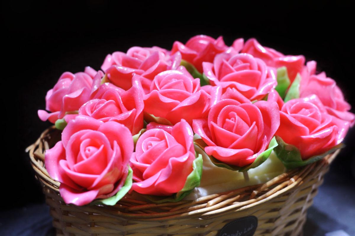 花卉,花篮,翻糖蛋糕,糖果,甜品,糖制品,雕刻艺术,鲜花,翻糖玫瑰花图片