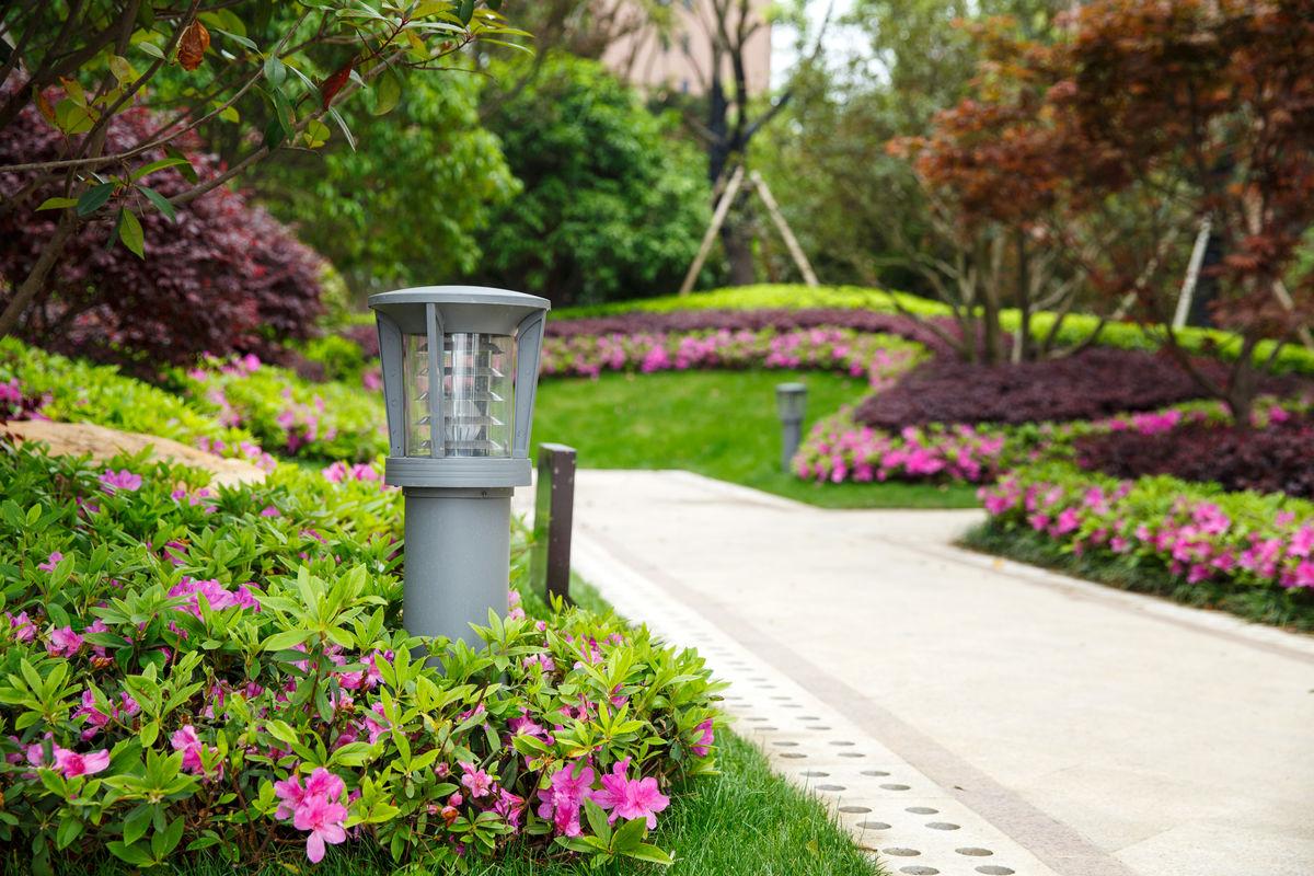 室外灯具,户外灯,园林灯,柱头灯,小区柱头灯,景观照明灯,小区路灯图片